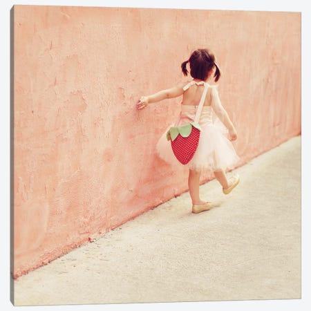 Pink Wall Tutu Square Canvas Print #MND50} by Mandy Lynne Canvas Art