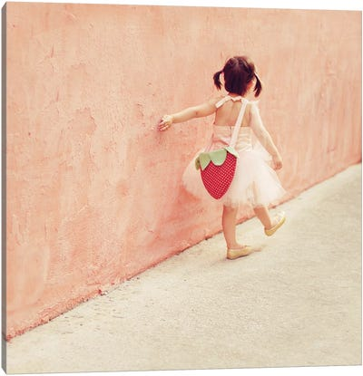 Pink Wall Tutu Square Canvas Art Print