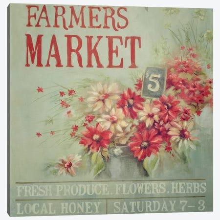 Red Farmers Market Canvas Print #MND52} by Mandy Lynne Canvas Wall Art