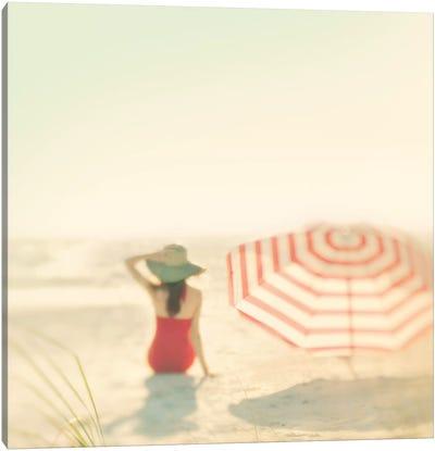 Red Umbrella II Canvas Art Print