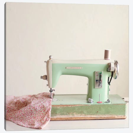 Sewing Machine Canvas Print #MND55} by Mandy Lynne Art Print