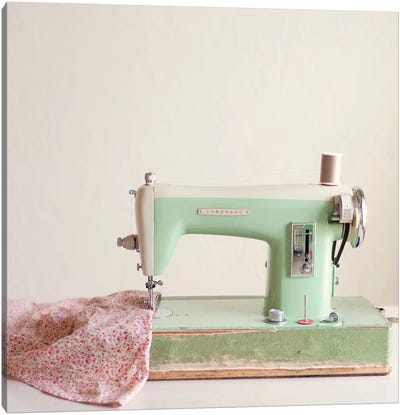 Sewing Machine Canvas Art Print