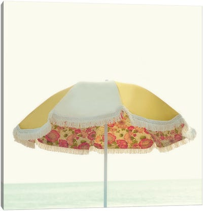 Beach Umbrella III Canvas Art Print