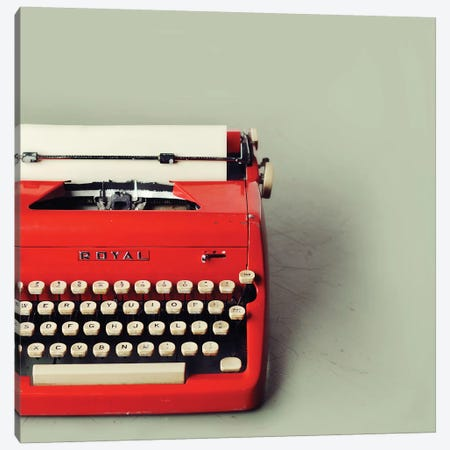 The Red Typewriter Canvas Print #MND63} by Mandy Lynne Art Print