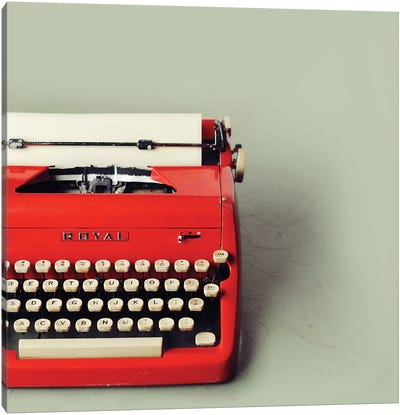 The Red Typewriter Canvas Art Print