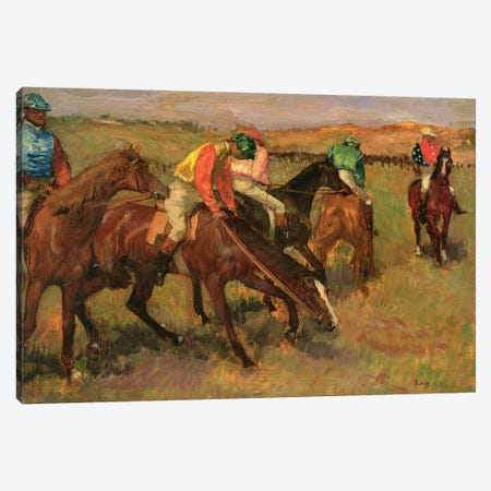 Before the Races, c.1882 Canvas Print #MNE12} by Edgar Degas Art Print