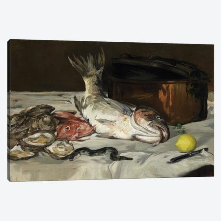 Fish , 1864 Canvas Print #MNE15} by Edouard Manet Canvas Wall Art