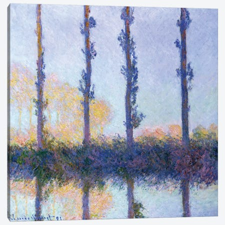 The Four Trees, 1891 Canvas Print #MNE17} by Claude Monet Canvas Art