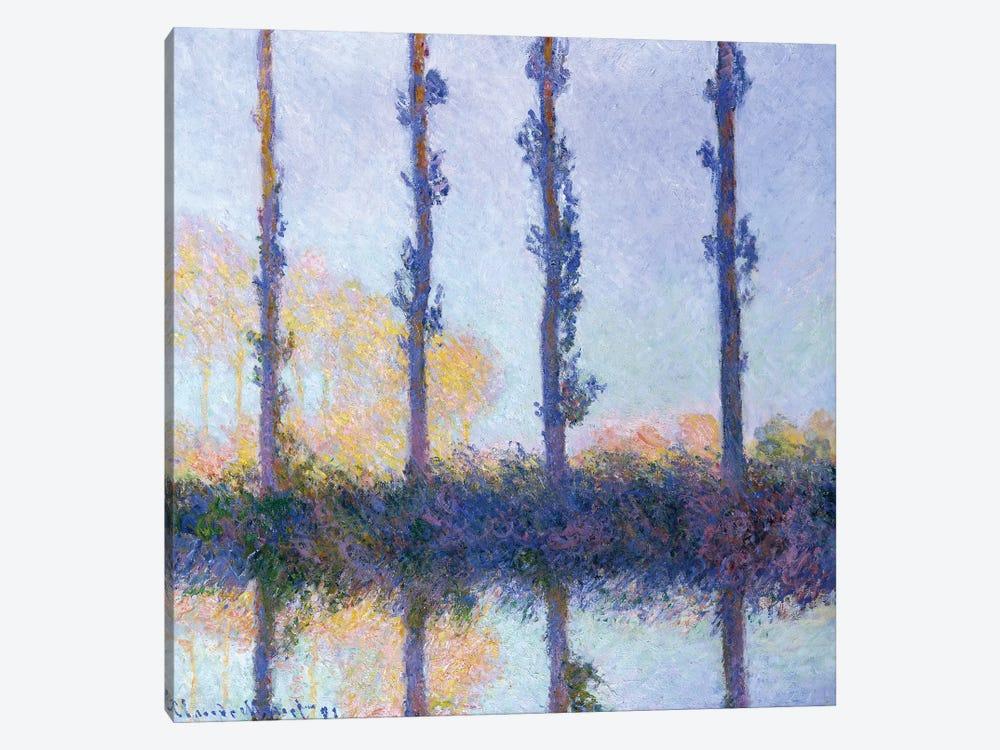 The Four Trees, 1891 by Claude Monet 1-piece Canvas Art