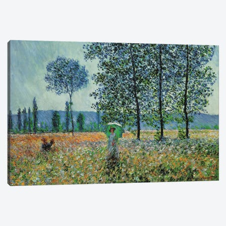 Felder Im Frühling Canvas Print #MNE1} by Claude Monet Canvas Art Print