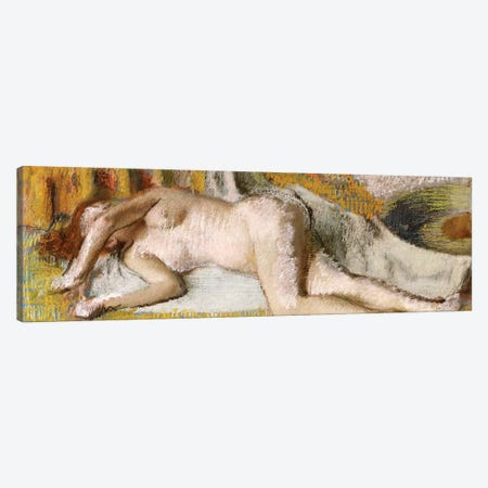 After the Bath, 1885 Canvas Print #MNE20} by Edgar Degas Canvas Wall Art