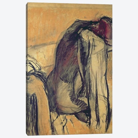 After the Bath, 1905-7, Canvas Print #MNE22} by Edgar Degas Canvas Artwork