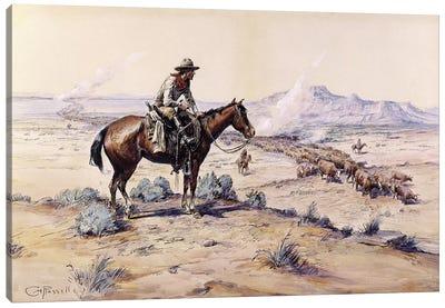 The Trail Boss Canvas Art Print