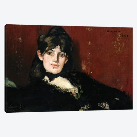 Berthe Morisot  Reclining, 1873 Canvas Print #MNE26} by Edouard Manet Canvas Art Print
