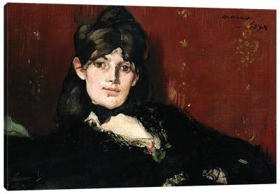 Berthe Morisot  Reclining, 1873 Canvas Art Print