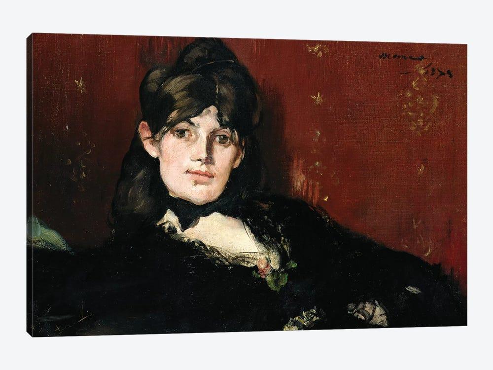 Berthe Morisot  Reclining, 1873 by Edouard Manet 1-piece Canvas Wall Art