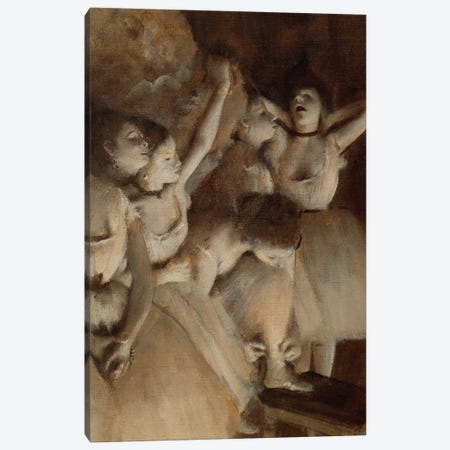 Ballet Rehearsal on the Stage, 1874 Canvas Print #MNE31} by Edgar Degas Art Print