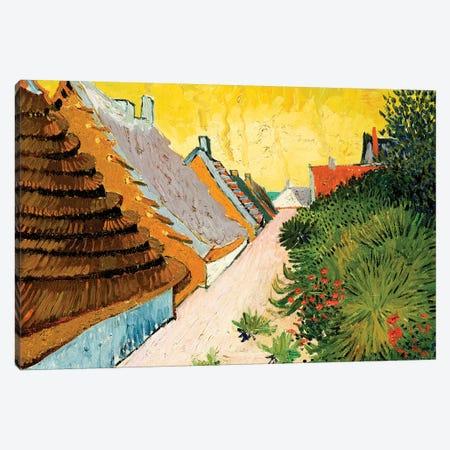 Farmhouses at Saintes-Maries, June 1888 Canvas Print #MNE34} by Vincent van Gogh Canvas Wall Art