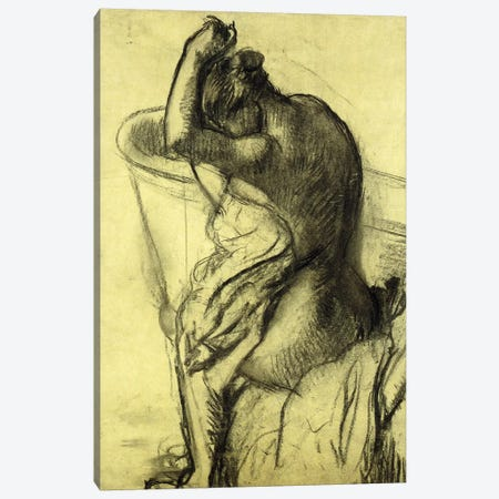 After the Bath; Apres le Bain, 1899 Canvas Print #MNE41} by Edgar Degas Canvas Art