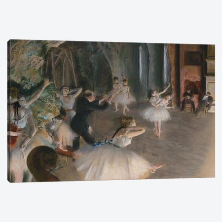 The Rehearsal Onstage, c.1874 Canvas Print #MNE46} by Edgar Degas Canvas Art Print