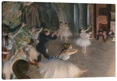The Rehearsal Onstage, c.1874 Canvas Art Print
