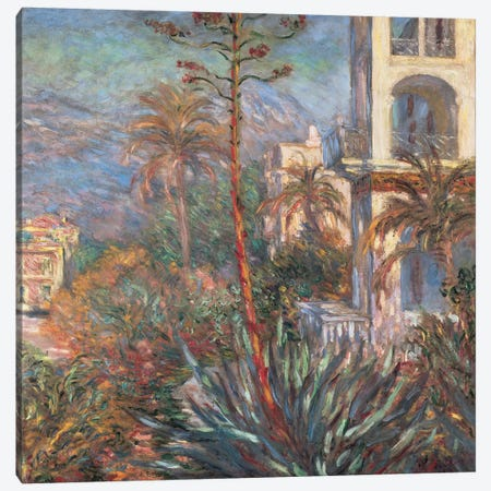 Les Villas A Bordighera Canvas Print #MNE4} by Claude Monet Canvas Artwork