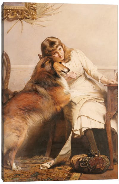 Sweethearts, 1890 Canvas Art Print