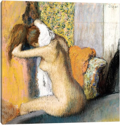 After the Bath, Woman Drying her Neck, 1898 Canvas Art Print