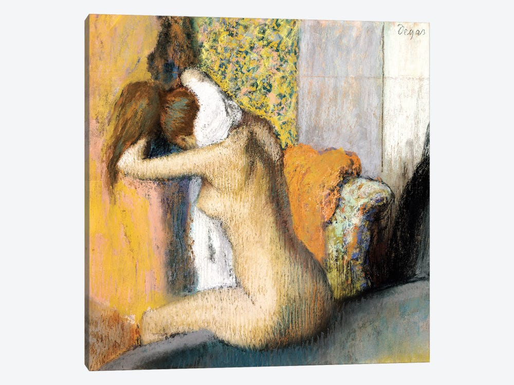 After the Bath, Woman Drying her Neck, 1898 by Edgar Degas 1-piece Canvas Artwork