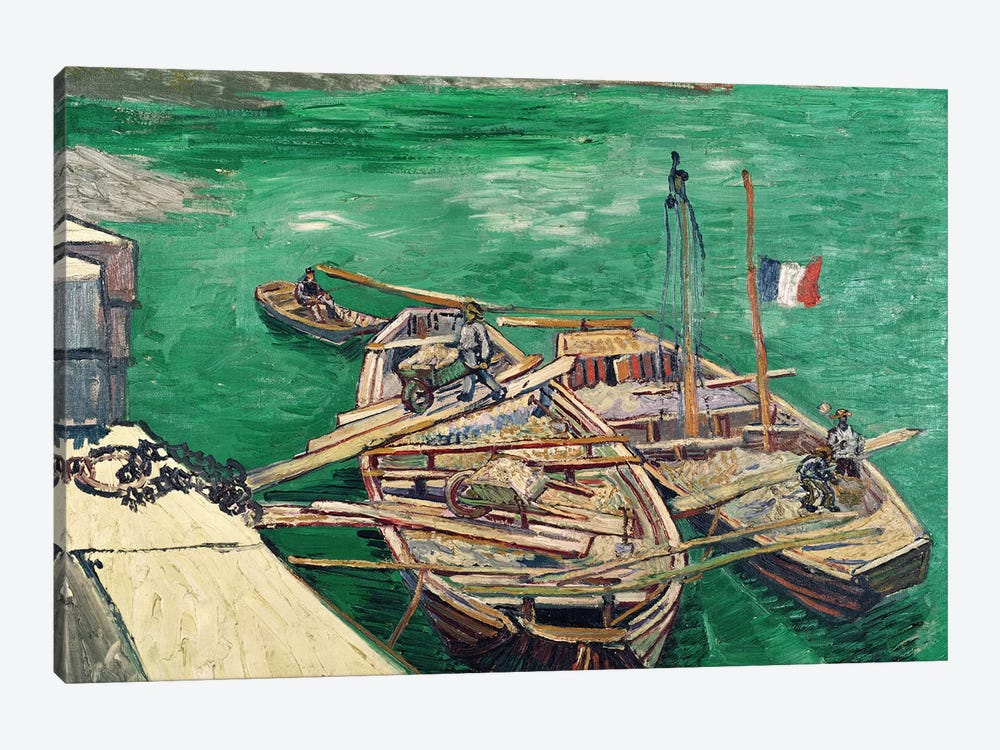 Landing Stage with Boats, 1888 by Vincent van Gogh 1-piece Canvas Artwork