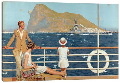 Gibraltar, from the series 'The Empire's Highway to India', 1928 Canvas Art Print