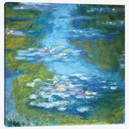Nymphéas II Canvas Print #MNE6} by Claude Monet Canvas Art