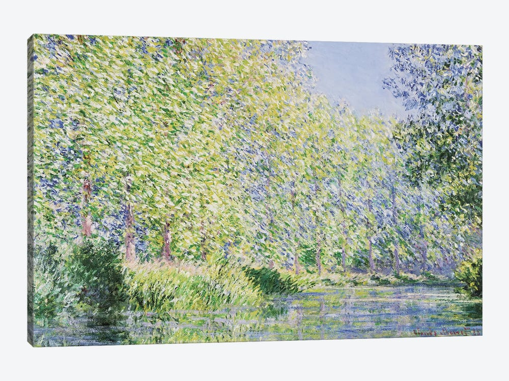 The Epte River Near Giverny by Claude Monet 1-piece Canvas Print