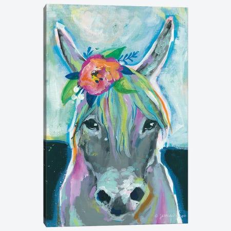 Sweet Donkey Canvas Print #MNG105} by Jessica Mingo Art Print
