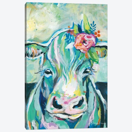 Sweet Cow Canvas Print #MNG106} by Jessica Mingo Canvas Art Print