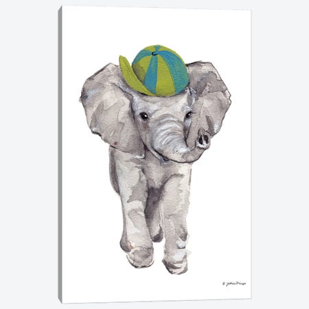 Baby Elephant Canvas Print #MNG111} by Jessica Mingo Canvas Art Print