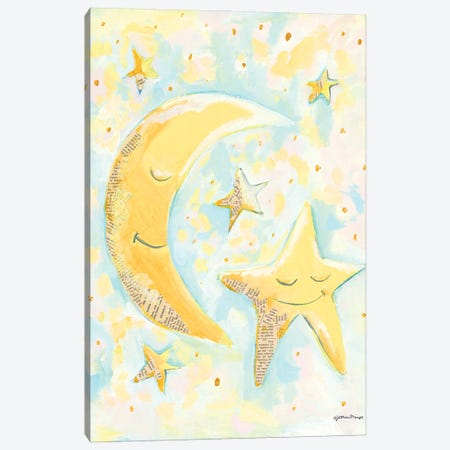 Moon and Star Friends 3-Piece Canvas #MNG113} by Jessica Mingo Art Print