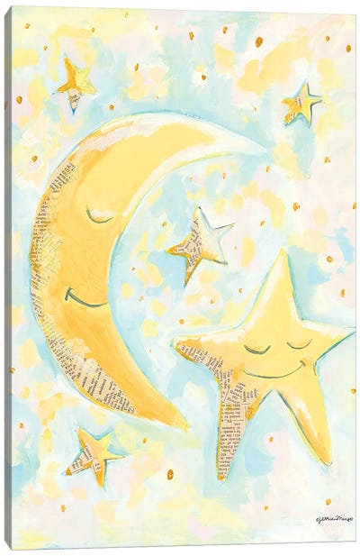 Moon and Star Friends Canvas Art Print