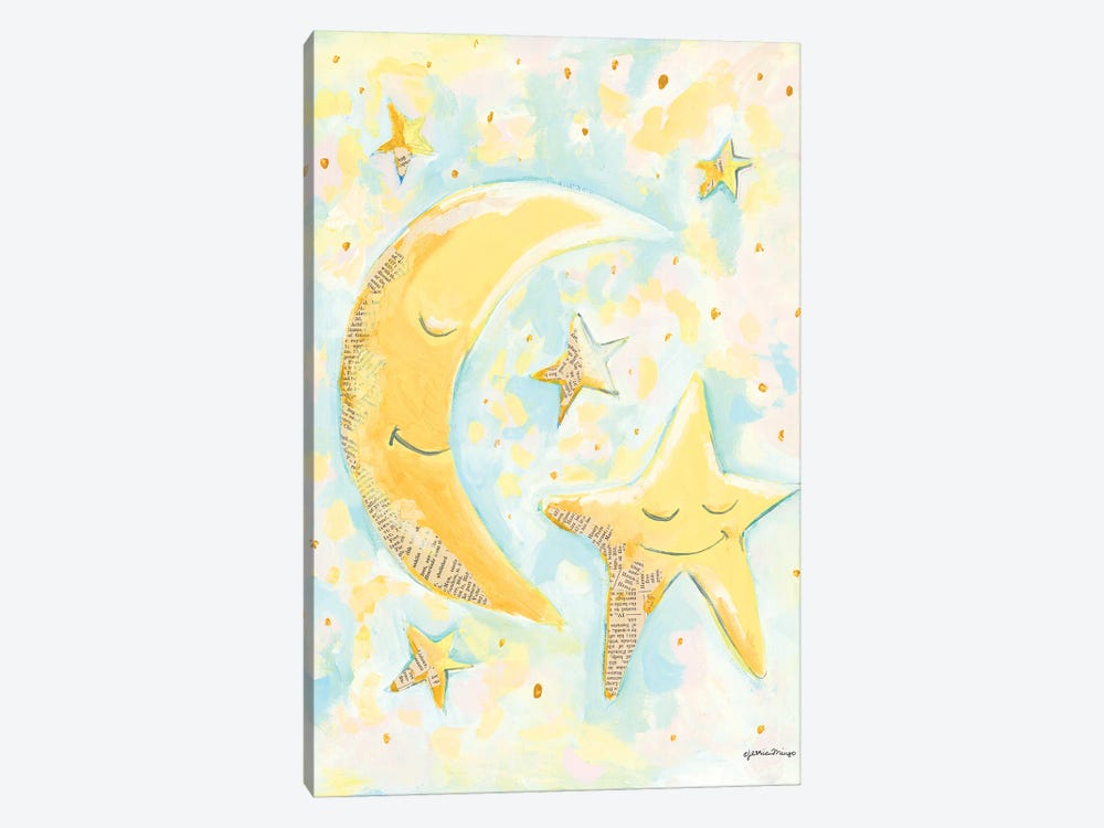 Moon and Star Friends by Jessica Mingo 1-piece Canvas Art