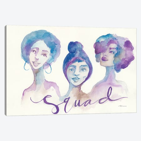 Squad Canvas Print #MNG14} by Jessica Mingo Canvas Artwork
