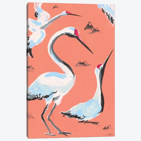 Storks I Canvas Print #MNG15} by Jessica Mingo Canvas Wall Art