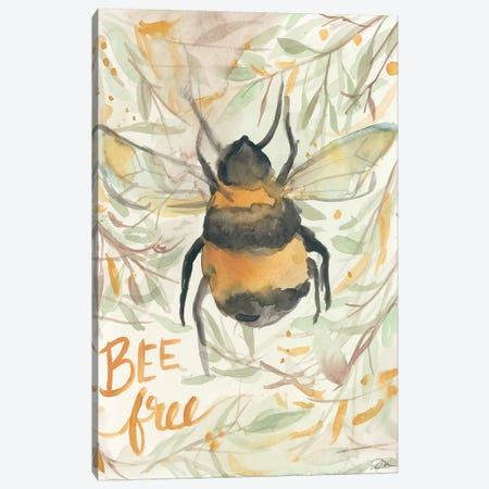 Bee Free Canvas Print #MNG21} by Jessica Mingo Canvas Art