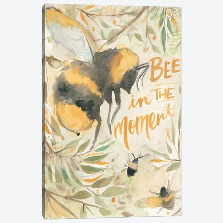 Bee in the Moment Canvas Print #MNG22} by Jessica Mingo Canvas Art