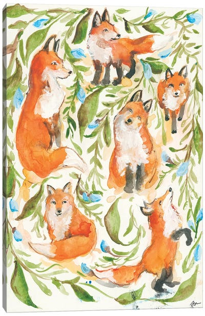 Fox Trot Canvas Art Print