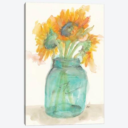 Sunflower Light Canvas Print #MNG27} by Jessica Mingo Canvas Art Print
