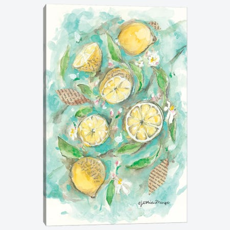 Make Lemonade Canvas Print #MNG36} by Jessica Mingo Canvas Wall Art