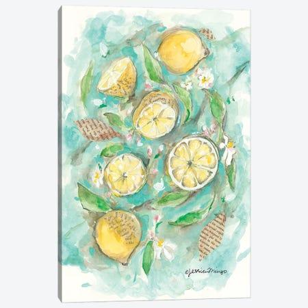 Make Lemonade Canvas Print #MNG36} by Jessica Mingo Canvas Wall Art