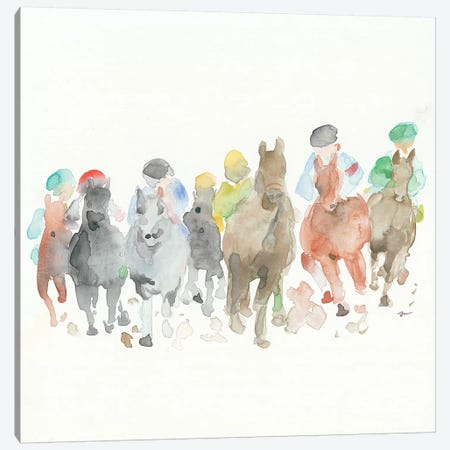 The Race Canvas Print #MNG46} by Jessica Mingo Canvas Print
