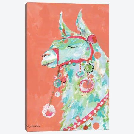 Tito the Llama Canvas Print #MNG47} by Jessica Mingo Canvas Art Print