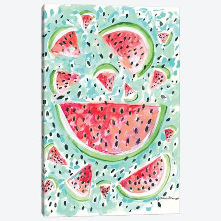 Watermelon Weather Canvas Print #MNG49} by Jessica Mingo Canvas Art